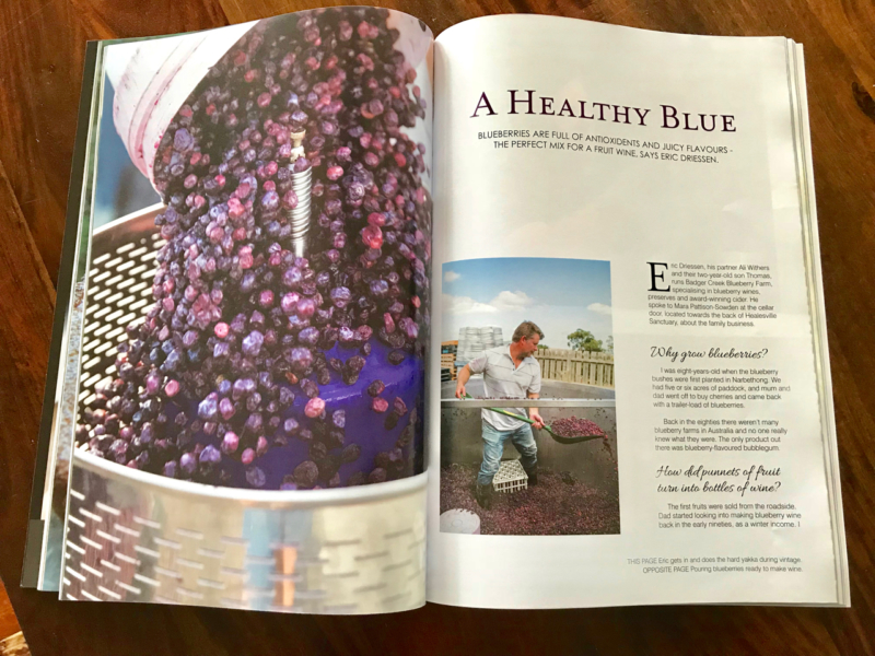 Article on Blueberry Winery in Yarra Valley & Ranges magazine