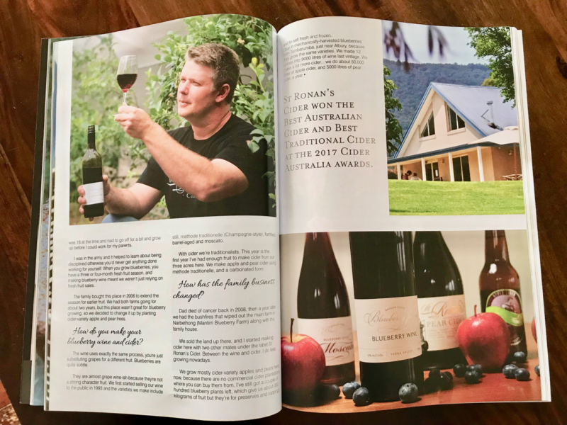 Pg 2 Article on Blueberry Winery in Yarra Valley & Ranges magazine