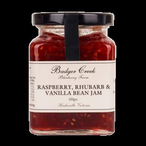 Raspberry Rhubarb & Vanilla Jam